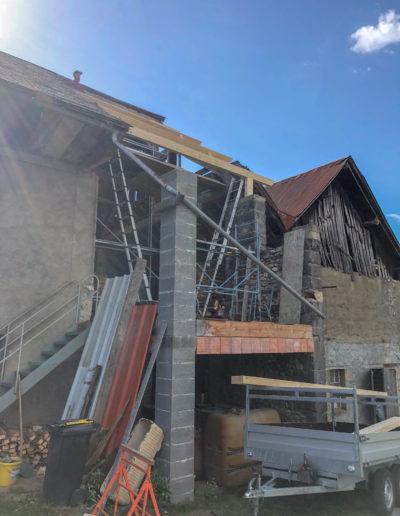 BEAULIEU TOITURE Charpente - Couverture - Zinguerie-en-Savoie - Chantier - Bac acier rénovation charpente planaise 73 - 2018-7194
