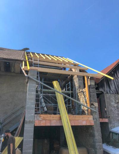 BEAULIEU TOITURE Charpente - Couverture - Zinguerie-en-Savoie - Chantier - Bac acier rénovation charpente planaise 73 - 2018-7196