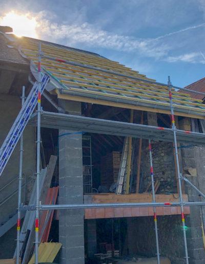 BEAULIEU TOITURE Charpente - Couverture - Zinguerie-en-Savoie - Chantier - Bac acier rénovation charpente planaise 73 - 2018-7231
