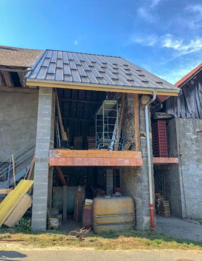 BEAULIEU TOITURE Charpente - Couverture - Zinguerie-en-Savoie - Chantier - Bac acier rénovation charpente planaise 73 - 2018-7260
