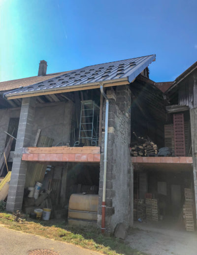 BEAULIEU TOITURE Charpente - Couverture - Zinguerie-en-Savoie - Chantier - Bac acier rénovation charpente planaise 73 - 2018-7262