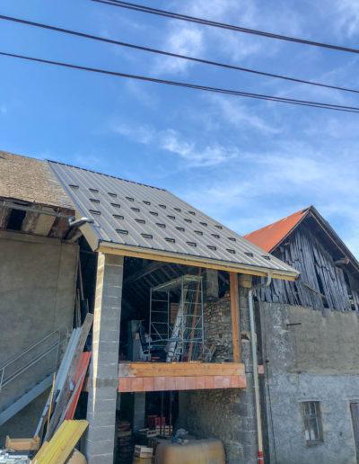 BEAULIEU TOITURE Charpente - Couverture - Zinguerie-en-Savoie - Chantier - Bac acier rénovation charpente planaise 73 - 2018-7263