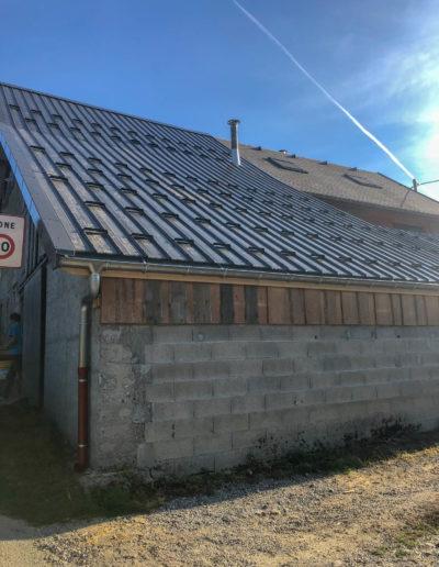 BEAULIEU TOITURE Charpente - Couverture - Zinguerie-en-Savoie - Chantier - Bac acier rénovation charpente planaise 73 - 2018-7535