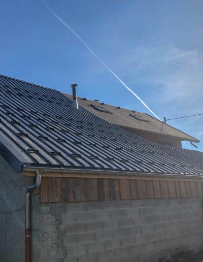 BEAULIEU TOITURE Charpente - Couverture - Zinguerie-en-Savoie - Chantier - Bac acier rénovation charpente planaise 73 - 2018-7536