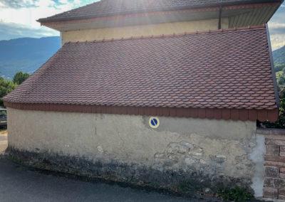 BEAULIEU TOITURE Charpente - Couverture - Zinguerie-en-Savoie - Chantier - Rénovation toiture arrondie en tuiles écaille - Saint-léger 73 -0553
