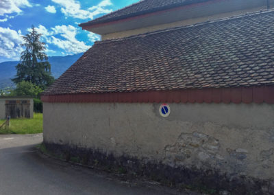 BEAULIEU TOITURE Charpente - Couverture - Zinguerie-en-Savoie - Chantier - Rénovation toiture arrondie en tuiles écaille - Saint-léger 73 -1696