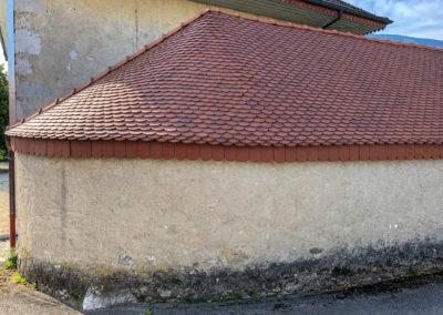 BEAULIEU TOITURE Charpente - Couverture - Zinguerie-en-Savoie - Chantier - Rénovation toiture arrondie en tuiles écaille - Saint-léger 73 -2433