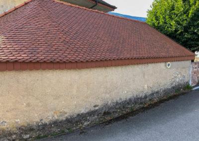 BEAULIEU TOITURE Charpente - Couverture - Zinguerie-en-Savoie - Chantier - Rénovation toiture arrondie en tuiles écaille - Saint-léger 73 -9804