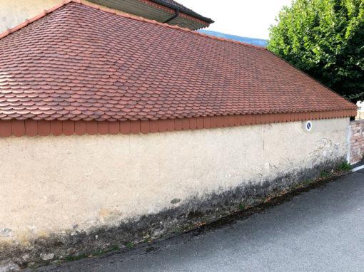 Rénovation toiture arrondie en tuiles écaille – Saint-léger 73