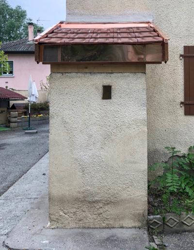BEAULIEU TOITURE Charpente - Couverture - Zinguerie-en-Savoie - Chantier - Auvent cuivre saint julien en genevois 74 - 2018-6022