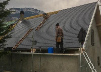 BEAULIEU TOITURE Charpente - Couverture - Zinguerie-en-Savoie - Chantier - Toiture rénovation ardoise - Saint Thibaud de couz 73-2931