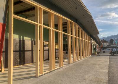 Création de façade en poteau poutre pour la nouvelle Panière à Sallanches – 74