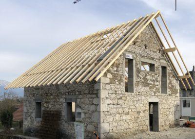 Rénovation de charpente à Allonzier-la-Caille en haute Savoie – 74