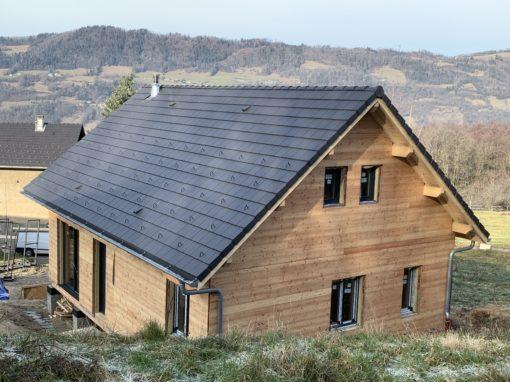 Montage de maison ossature bois écologique à La Rochette en Savoie – 73