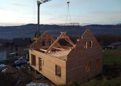 Montage de maison ossature bois du plancher au toit à La Rochette en Savoie – 73