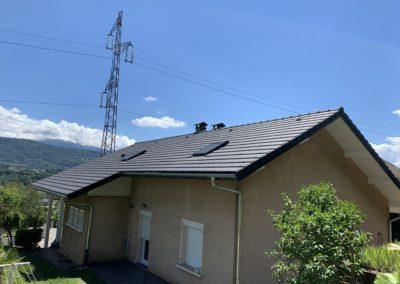 Pose de couverture tuiles terre cuite à Montmelian en Savoie