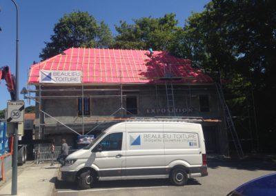 Rénovation de toiture de la salle des expositions à Tresserve – 73